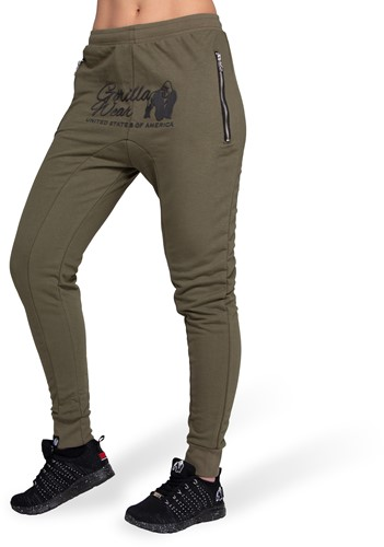 Gorilla Wear Celina Drop Crotch Joggingbroek - Legergroen