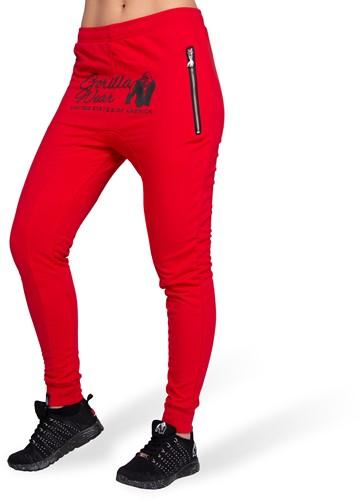 Gorilla Wear Celina Drop Crotch Joggingbroek - Rood