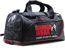 Gorilla Wear Jerome Gym Bag -  Black/Red