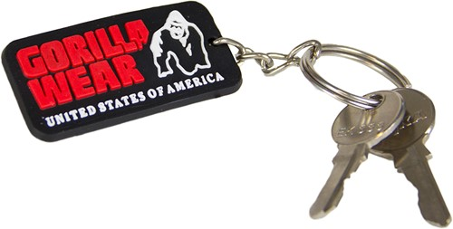 Gorilla Wear Rubber Men Logo Keychain-2