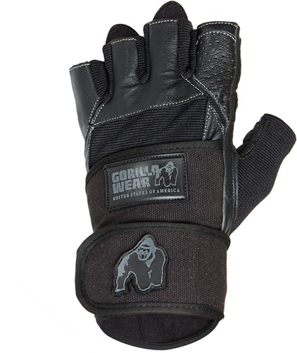Gorilla Wear Dallas Wrist Wrap Fitness Handschoenen - Zwart