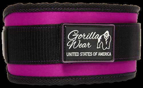Gorilla Wear Womens Halterriem Zwart/ Paars