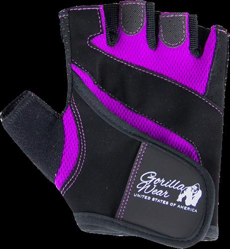 Gorilla Wear Womens Fitness Gloves - Fitness Handschoenen - Zwart/Paars