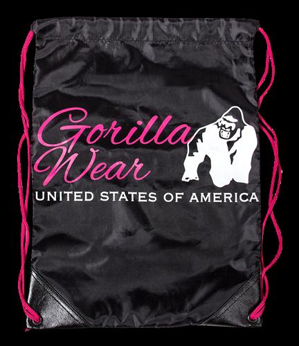 Gorilla Wear Drawstring Bag Zwart/Roze
