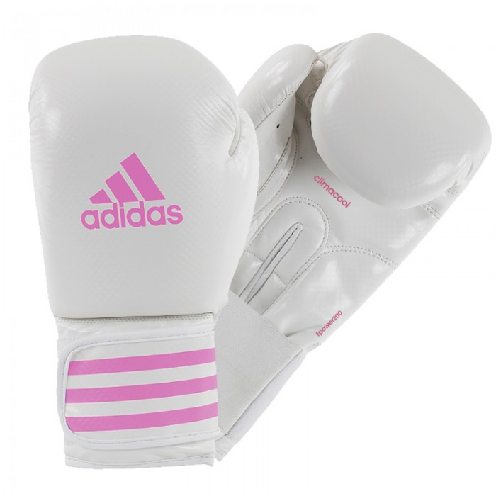 Adidas Female Power 200 (kick)Bokshandschoenen Wit-Roze_14 oz