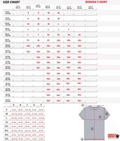 Bodega T-Shirt maattabel