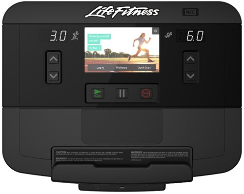 treadmill console display life fitness