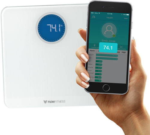 Flow Fitness Bluetooth smart scale weegschaal 6