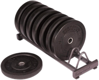 Body-Solid Rubber Bumper Plate Rack-1