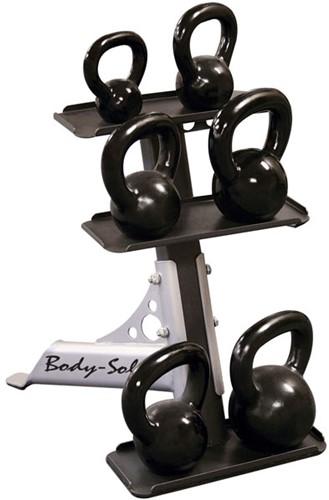 Body-Solid 3-Pair Kettlebell Rack