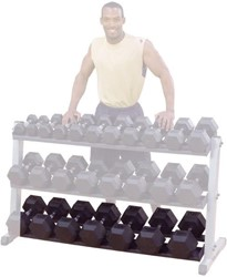 Optional Third Tier voor Body-Solid Pro Dumbbell Rack