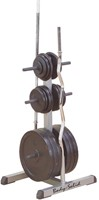 Body-Solid Standard Plate Tree & Bar Holder-2
