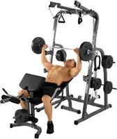 Hammer Fitness Solid xp halterbank met 76 kg gewichten-1