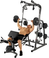Hammer Fitness Solid XP Halterbank met 76 kg gewichten