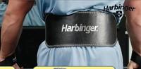 Harbinger padded leather belt black - 6 inch - model