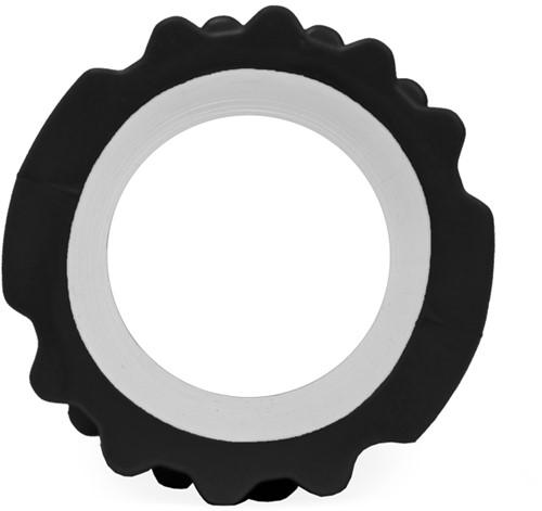 VirtuFit Grid Foam Roller 33 cm Zwart - Zijaanzicht