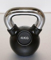 Kettlebell 4kg rubber-1