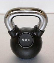 Kettlebell 4kg rubber
