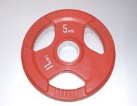 Rubber schijf gekleurd 5 kg (50 mm)-1