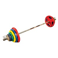 Body-Solid Olympische Halterset - Gekleurd Rubber-1