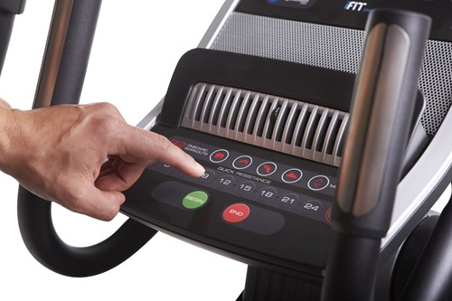 Proform HIIT trainer interface