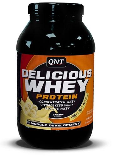 QNT Delicious Whey Protein Poeder Aardbei 1kg