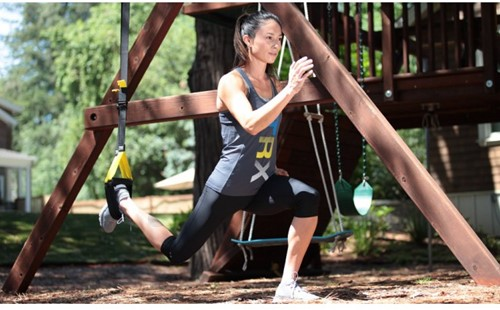 TRX home suspension trainer kit in gebruik 3