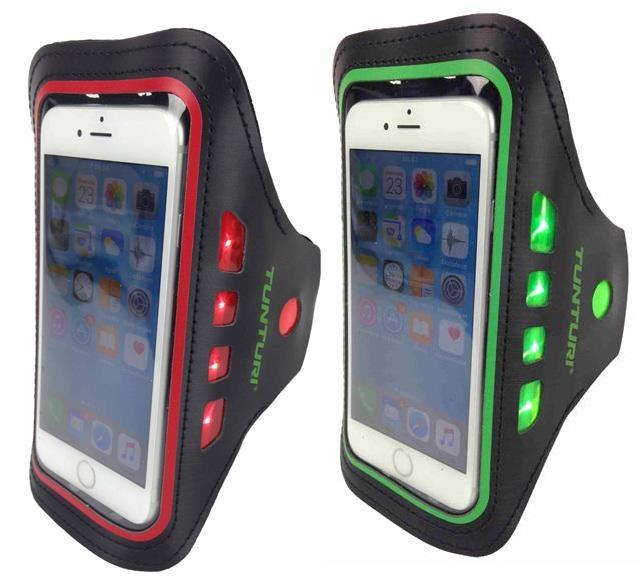 Handig voor je telefoon, goed voor je zichtbaarheid. stop je telefoon in de tunturi led telefoon sport ...