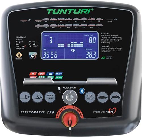 Tunturi Performance T50 Loopband display