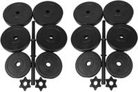 Tunturi Vinyl Dubbele Dumbbellset 30kg-2