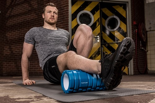 Tunturi yoga grid foam rollers blauw model 1
