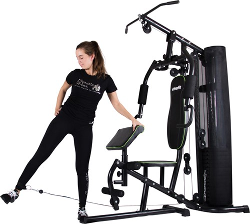 VirtuFit Krachtstation Homegym KH1 oefening side kick