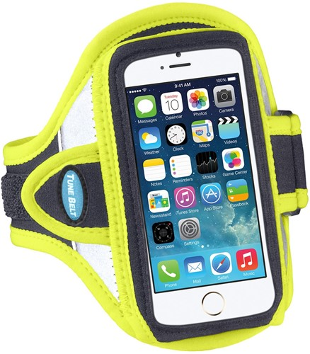 Tune Belt AB87RY Sport armband - reflecterend geel