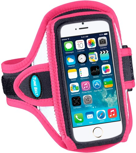 Tune Belt AB87RP Sport armband - reflecterend roze