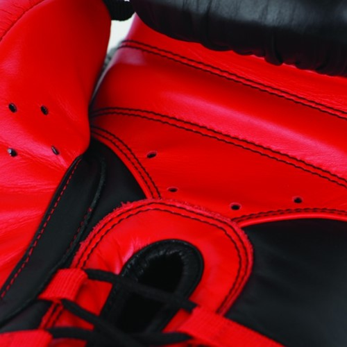 Adidas Safety Sparring Bokshandschoenen Veter Zwart-Rood-2