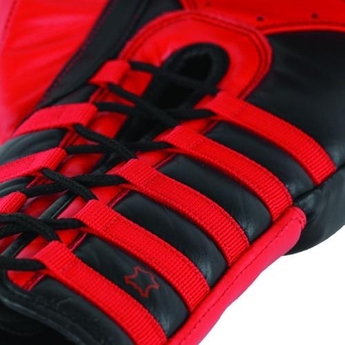 Adidas Safety Sparring Bokshandschoenen Veter Zwart-Rood
