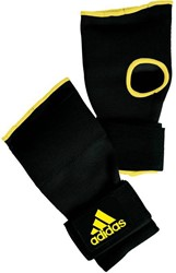 Adidas Gevoerde Binnenhandschoen Met Bandage - Zwart / Geel