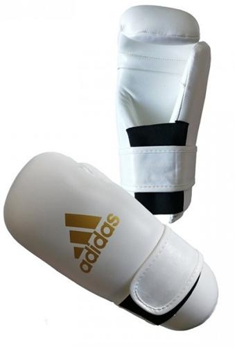 Adidas Semi Contact Gloves - Bokshandschoenen - Wit / Goud