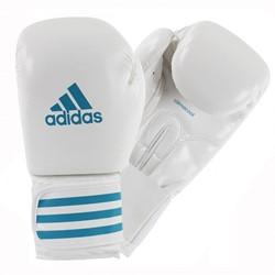 Adidas Female Power 100 (Kick)Bokshandschoenen Wit-Blauw