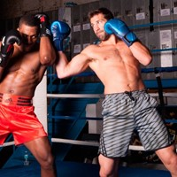 Adidas Training MMA Short Grijs Beluga