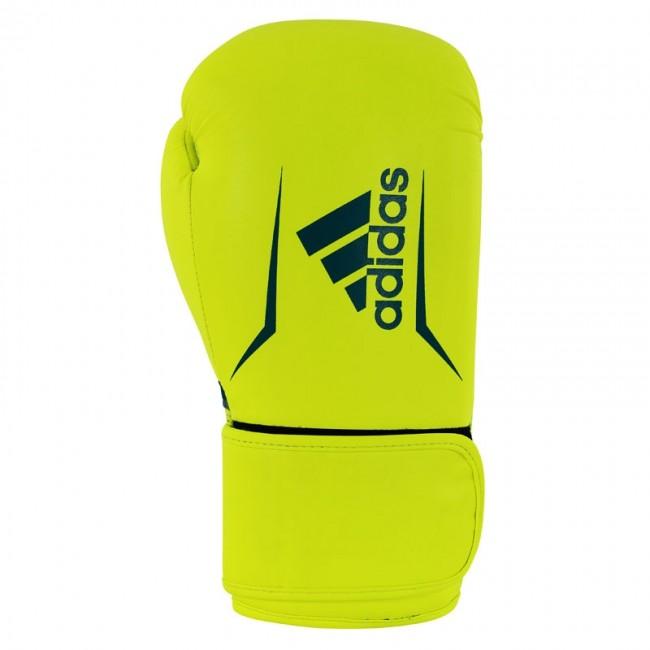 Adidas Speed 100 Bokshandschoenen Geel-blauw 14 oz