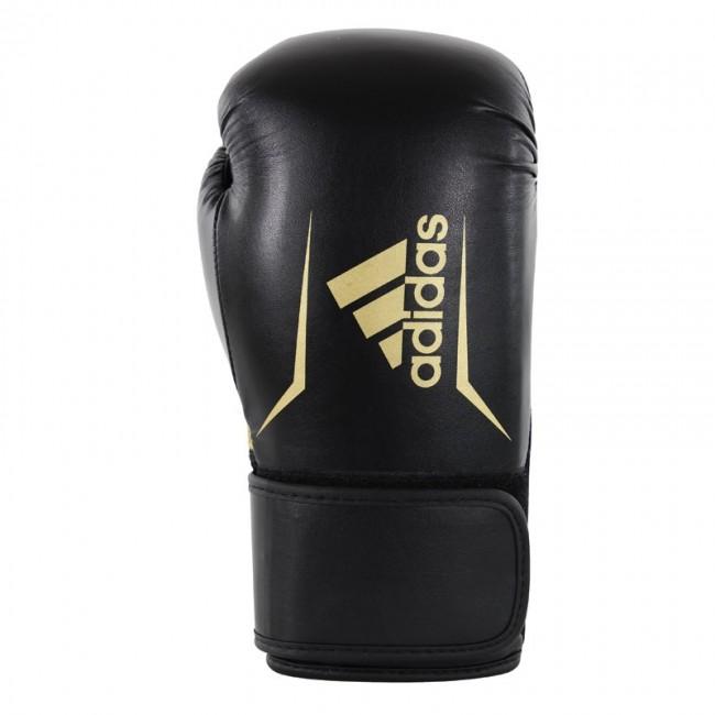 Adidas Speed 100 Bokshandschoenen Zwart-Goud 12 oz