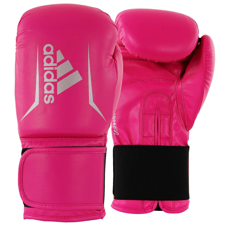 adidas Speed 50 bokshandschoenen roze-zilver maat 12 oz