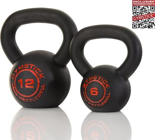 Gymstick Pro Kettlebell - Zwart - Met Online Trainingsvideo's - 24 kg