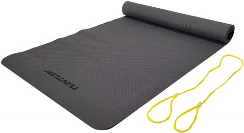 Tunturi TPE Yogamat - Fitnessmat - 183 x 61 x 0,4 cm - Antraciet