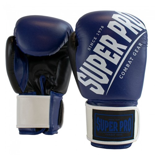 Super Pro Combat Gear Rebel (Kick)Bokshandschoenen - Blauw/Zwart/Wit