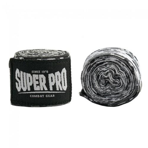 Super Pro Combat Gear Semi-Elastische Bandages - Camo Zwart/Grijs/Wit