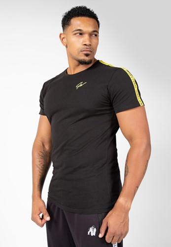Gorilla Wear Chester T-Shirt - Zwart/Geel
