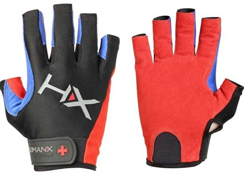 Harbinger Men's X3 Competition Open Finger Crossfit Fitness Handschoenen Red/Blue/Black