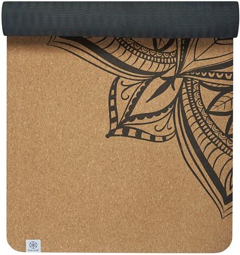 Gaiam Yoga Mat - 5 mm - Cork Mandala